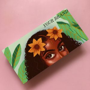 Wholesale private label eyelash boxes in Green color
